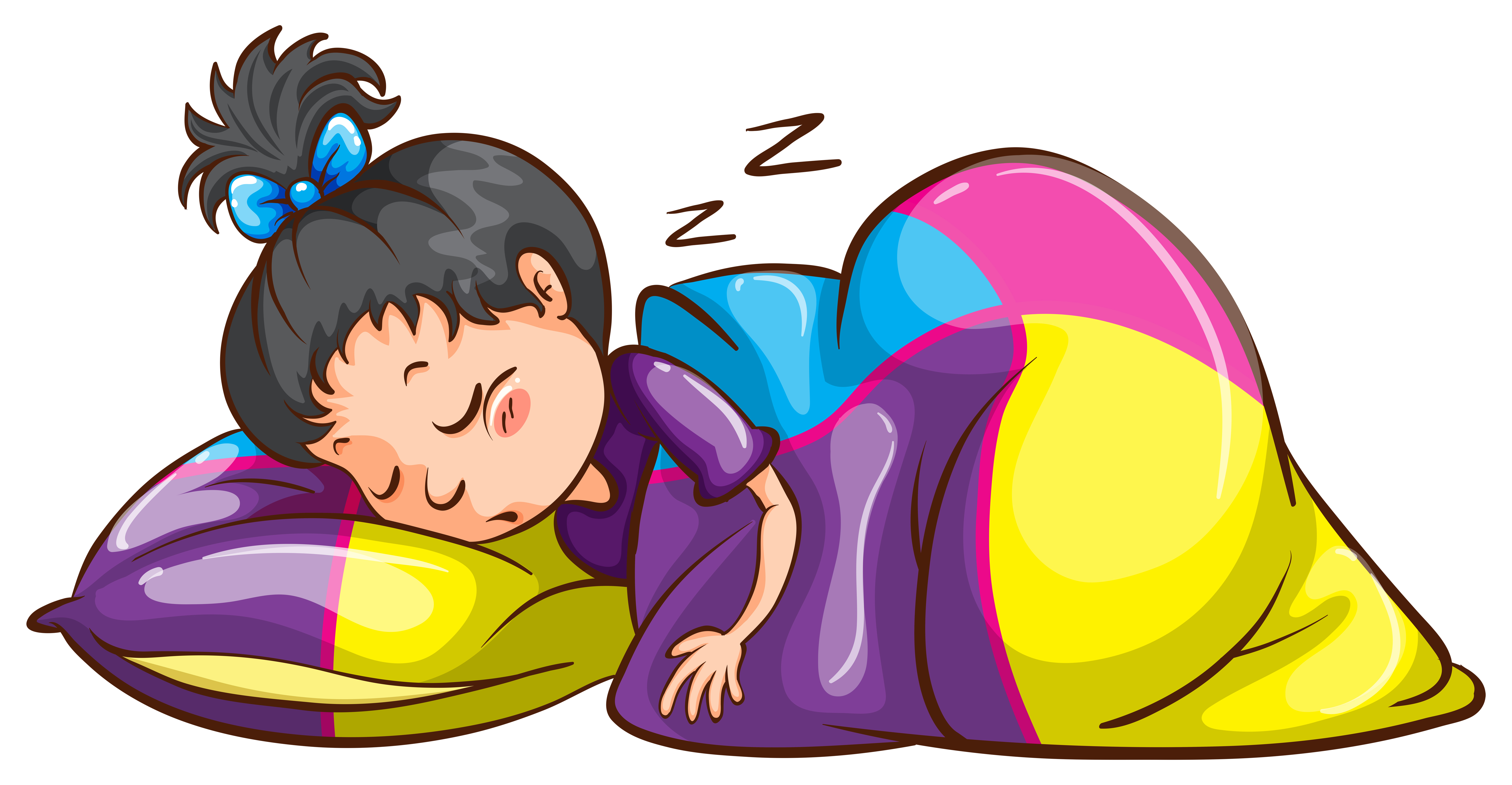 A Little Girl Sleeping Soundly